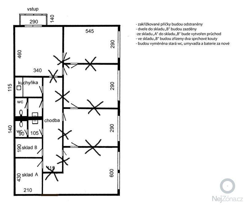 Rekonstrukce nebytových prostor: pudorys_navrch_uprav
