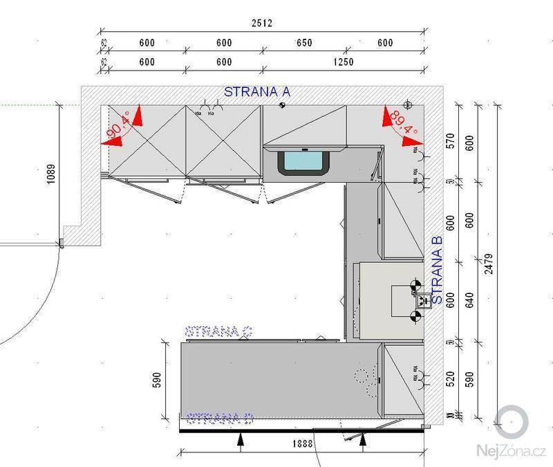 Příprava před instalací kuchyňské linky: pudorys_IP