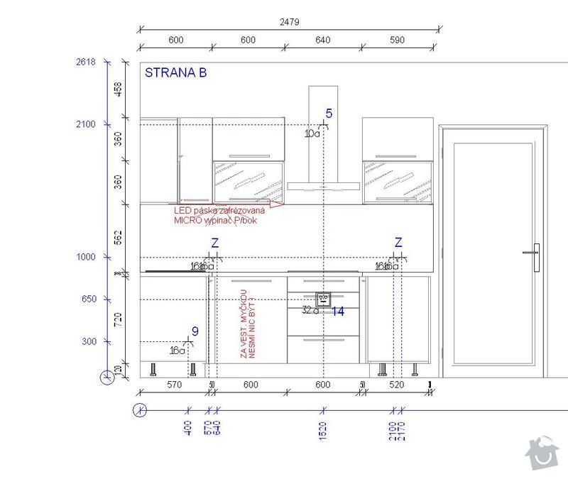 Příprava před instalací kuchyňské linky: strana_B_IP