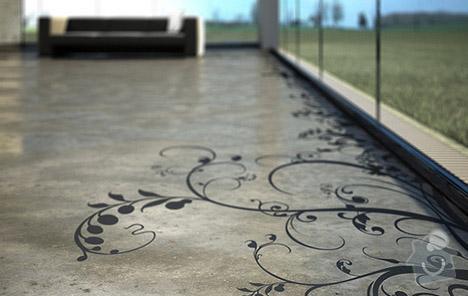 Betonová stěrka na podlahu v rodiném domě  - 37 m2: beton