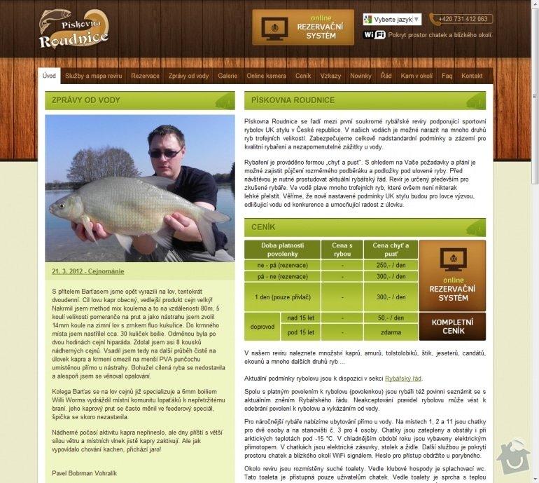 Tvorba rybářského revíru www.rybareni-roudnice.cz: 038-hlavni-stranka-rybareni-roudnice