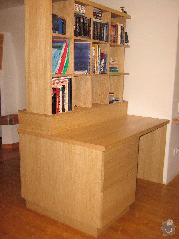 Psací stůl s knihovnou a ůložnými prostory: ZOO.....Andel_restaurovani....Lada_stul_163