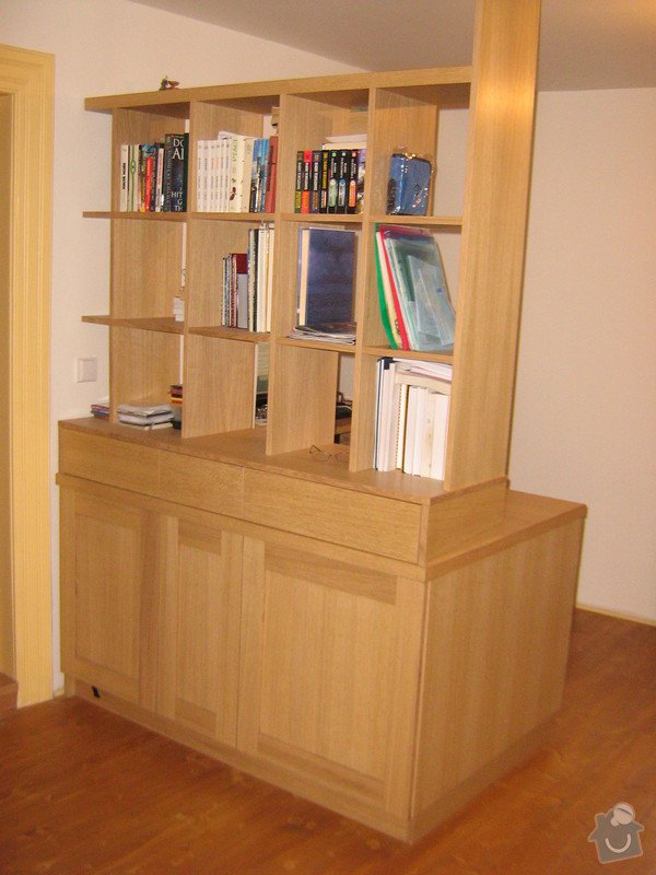 Psací stůl s knihovnou a ůložnými prostory: ZOO.....Andel_restaurovani....Lada_stul_166