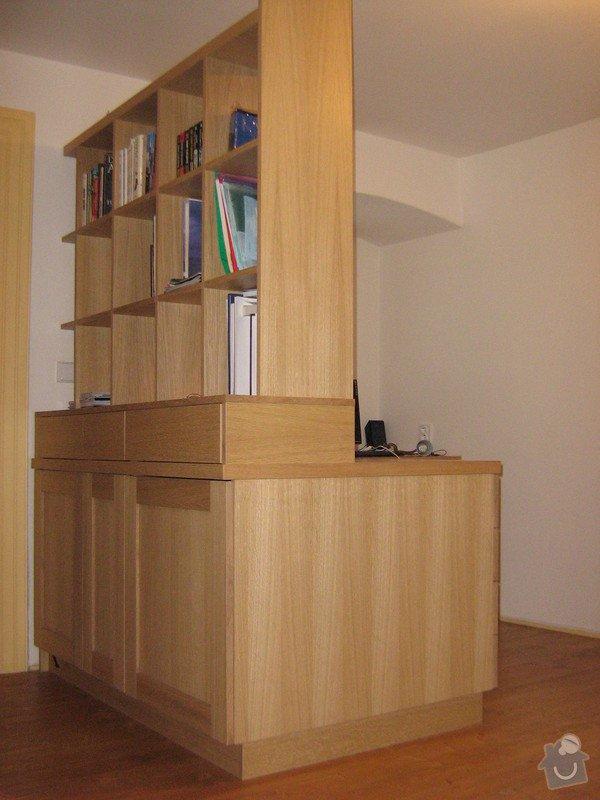 Psací stůl s knihovnou a ůložnými prostory: ZOO.....Andel_restaurovani....Lada_stul_168