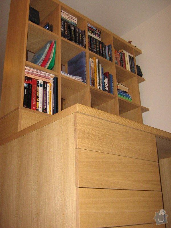 Psací stůl s knihovnou a ůložnými prostory: ZOO.....Andel_restaurovani....Lada_stul_177