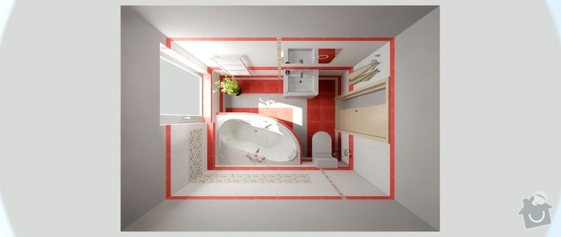 Kompletní realizace 2 koupelen v novostavbě dřevostavby RD: viz_edc_rezlerova_1.05_ver7_1