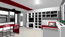 Návrh interiéru garsonky