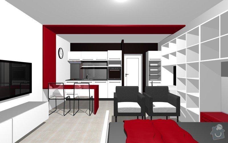 Návrh interiéru garsonky: 14