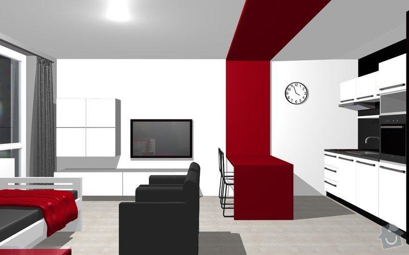 Návrh interiéru garsonky: 17