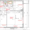 Realizace podhledu obyvak koupelna a chodba pudorys