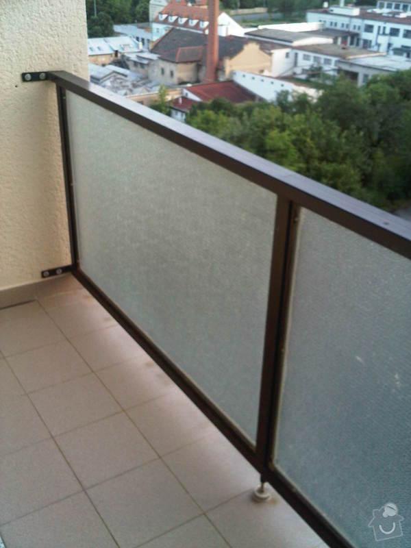 Zasklení balkonu - bezrámový systém: IMG00172-20120717-2045