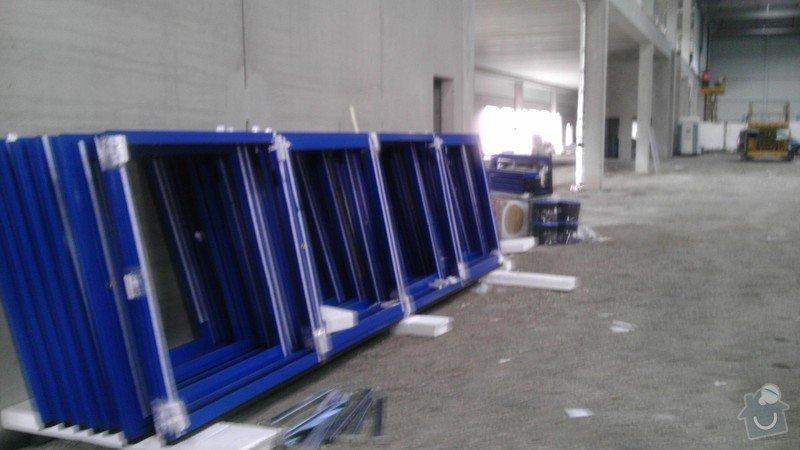 Montáž AL oken a dveří ve výrobní hale: IMAG0011