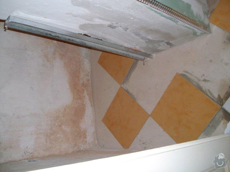 Obložení zděného sprch. koutu 1m2 do výšky cca 2m, vč. instalace sprch. baterie a odpadu,přesun el. zásuvek : 006