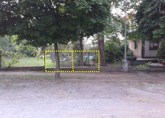 Provizorní brána na pozemek