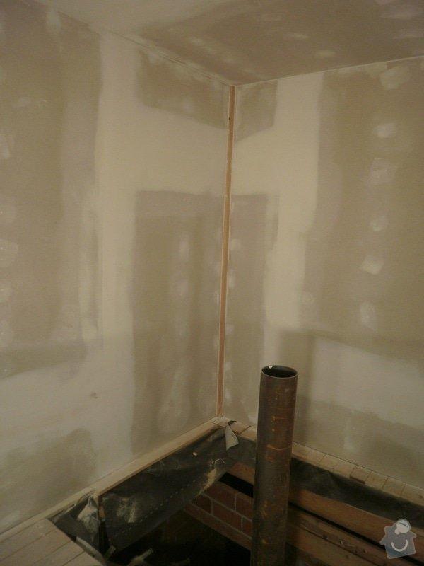 Půdní vestavba, sádrokartony, izolace: PB090219