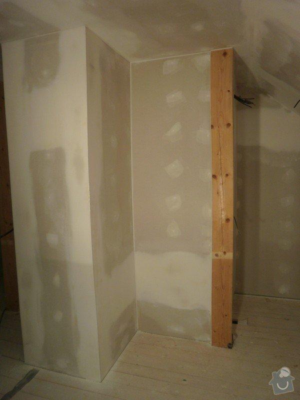 Půdní vestavba, sádrokartony, izolace: PB090223