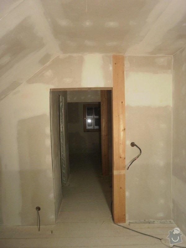 Půdní vestavba, sádrokartony, izolace: PB090228