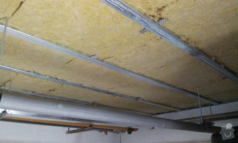 Odhlučnění stropu 30 m2 - mezi kotelnou a bytem nad kotelnou: 20120620_092633