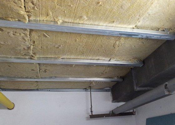 Odhlučnění stropu 30 m2 - mezi kotelnou a bytem nad kotelnou