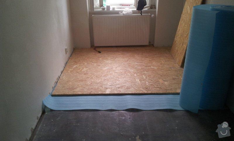 Rozdělení místnosti a montáž podlahy: 20120626_111229