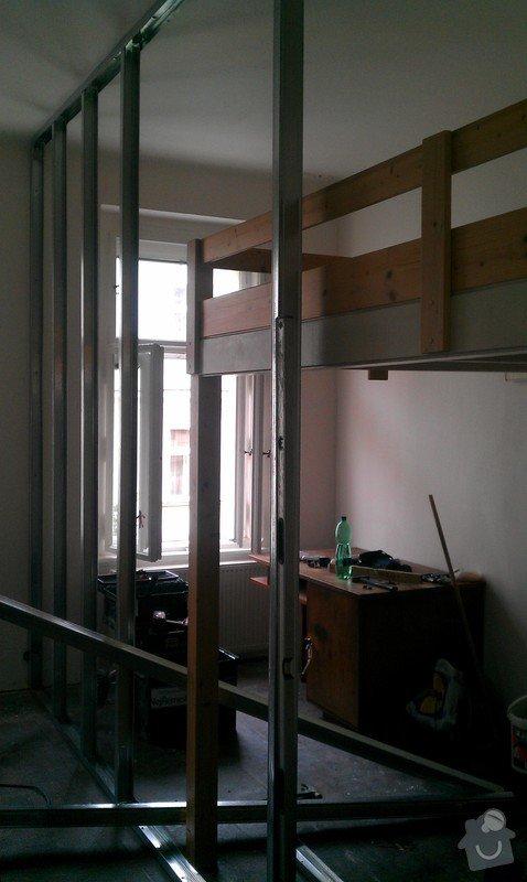 Rozdělení místnosti a montáž podlahy: IMAG0037