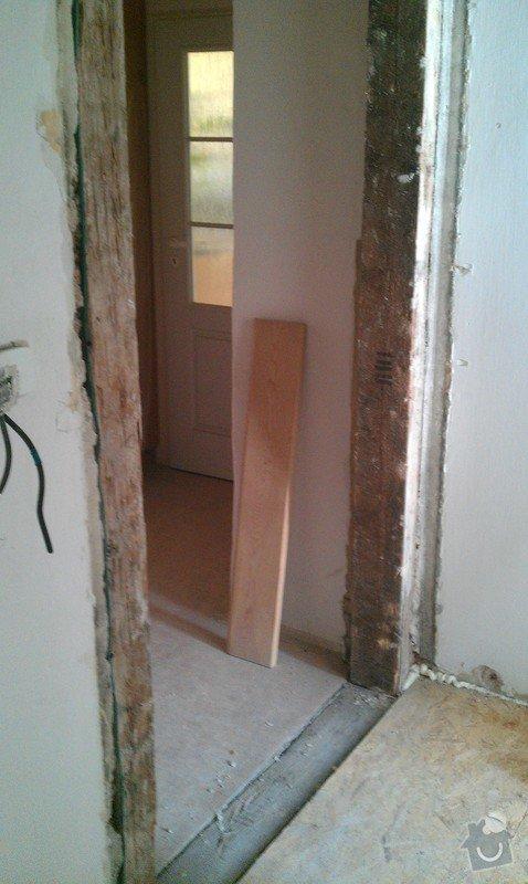 Rozdělení místnosti a montáž podlahy: IMAG0038