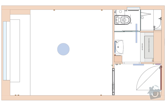 Rekonstrukce malého bytu - 22 m2 -Brno: AD_pudorys_3558