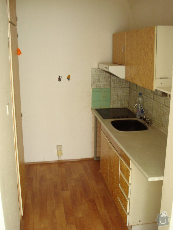 """Rekonstrukce bytového jádra """"na klíč"""", příprava na novou kuchyňskou linku: DSC01576"""