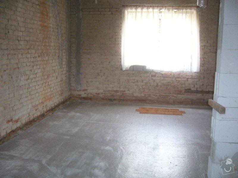 Vylití provětrávané podlahy, postupně 3 vrstvy betonu: beton_loenc2