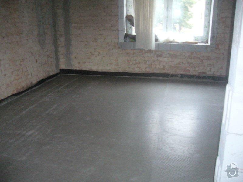 Vylití provětrávané podlahy, postupně 3 vrstvy betonu: beton_lorenc3