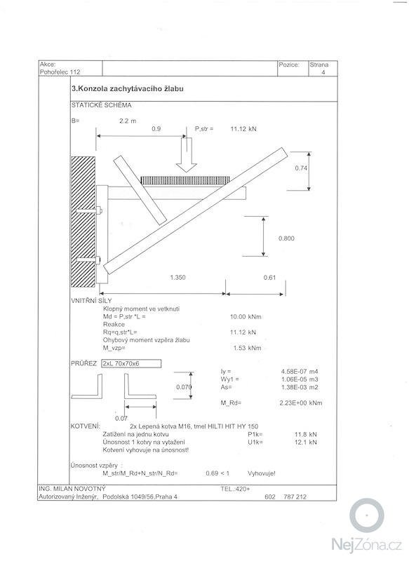 Zachytávací žlab, uzavření obvodového pláště: 001