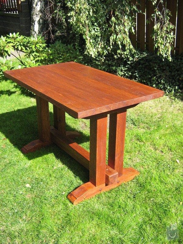 Výroba botníku a stolu z masivního dubu: p.Jiricek_stul