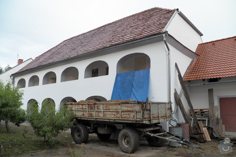 Rozebrání staré a konstrukce nové sedlové střechy: 102_0269
