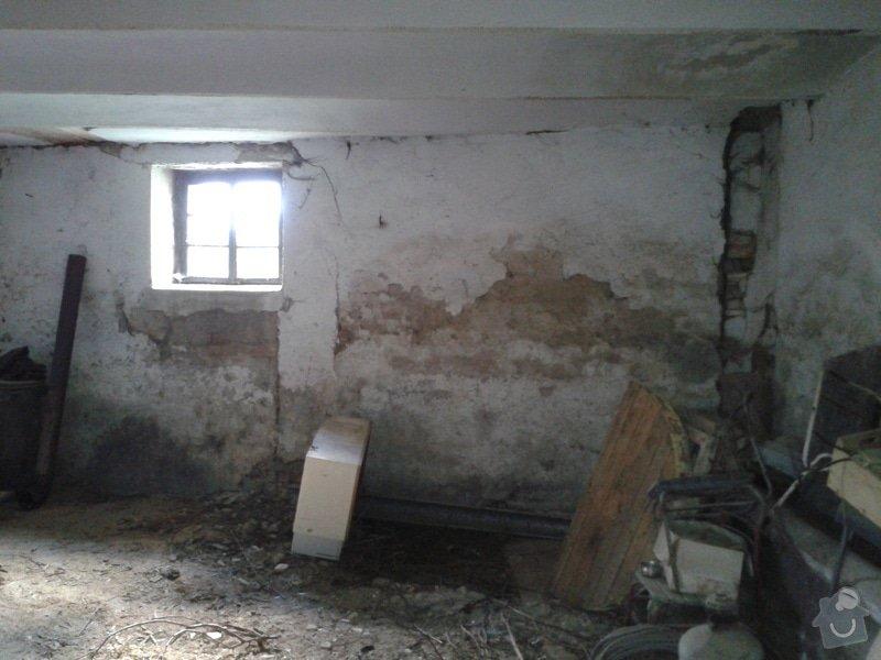 Rekonstrukce RD: Stena_vn_pohled