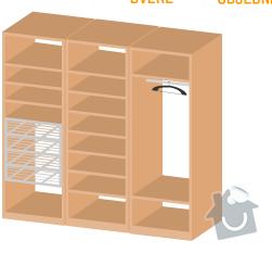 Výroba, montáž vestavných skříní: variantaC
