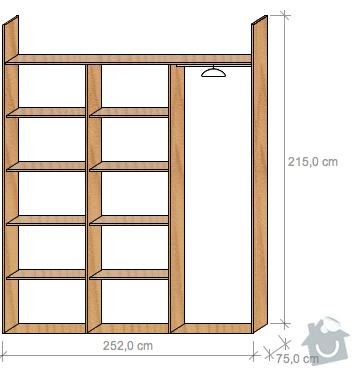 Výroba, montáž vestavných skříní: variantaD
