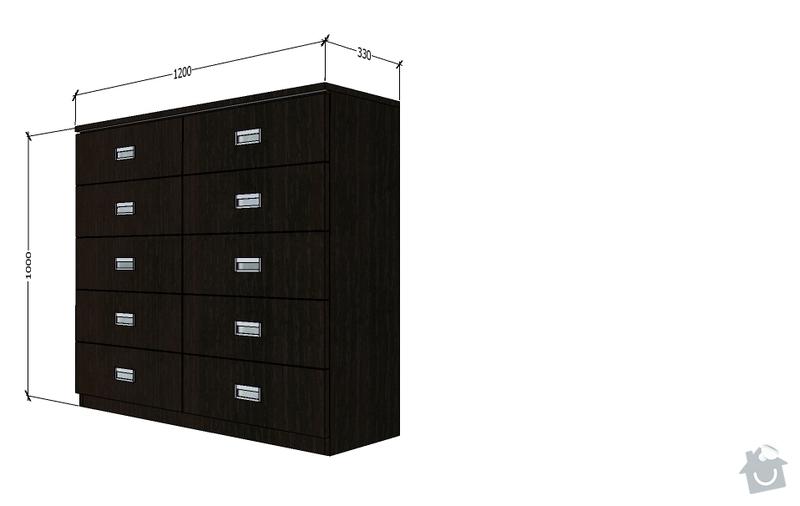 Vestavěné skříně a komoda: navrh_komoda