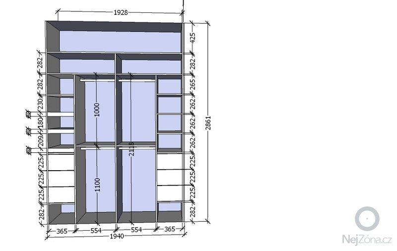 Vestavěné skříně a komoda: navrh_loznice_VS