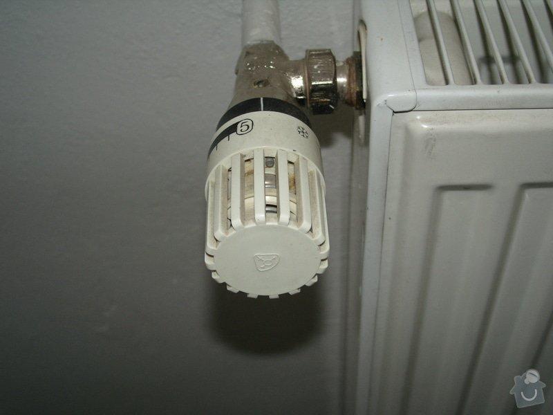 Výměna ventilů topeni + celková kontrola topení: ventil_stary