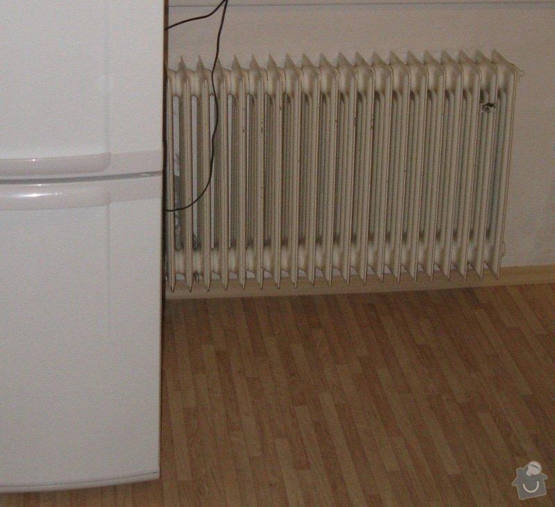 Výměna radiátoru, přesunutí odpadu a přívodu teplé a studené vody: Radiator