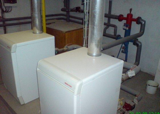 Montáž plynové kotelny