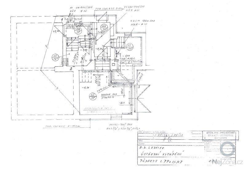Rozvod topení - rekonstrukce rodinného domu: Plan2