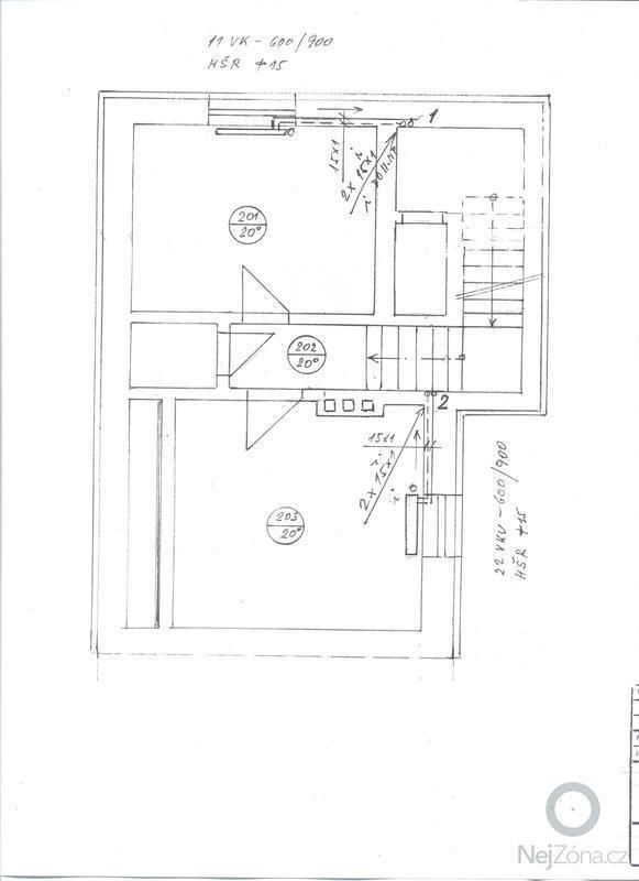 Rozvod topení - rekonstrukce rodinného domu: Plan4