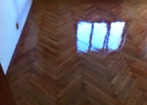 Renovace a moření podlahy