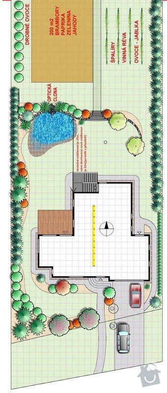 Výstavba chodníků a přijezdvé cesty: zahrada