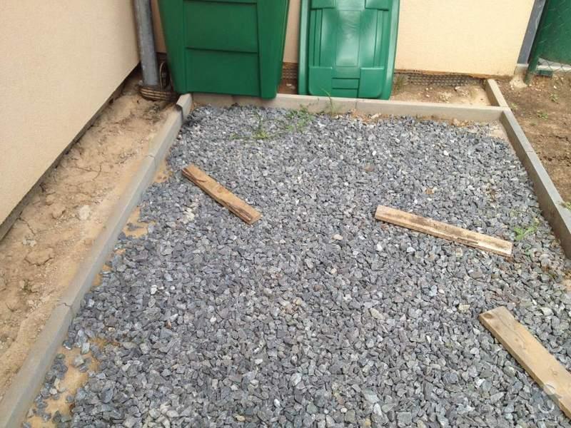 Položení 14m2 zámkové dlažby: photo