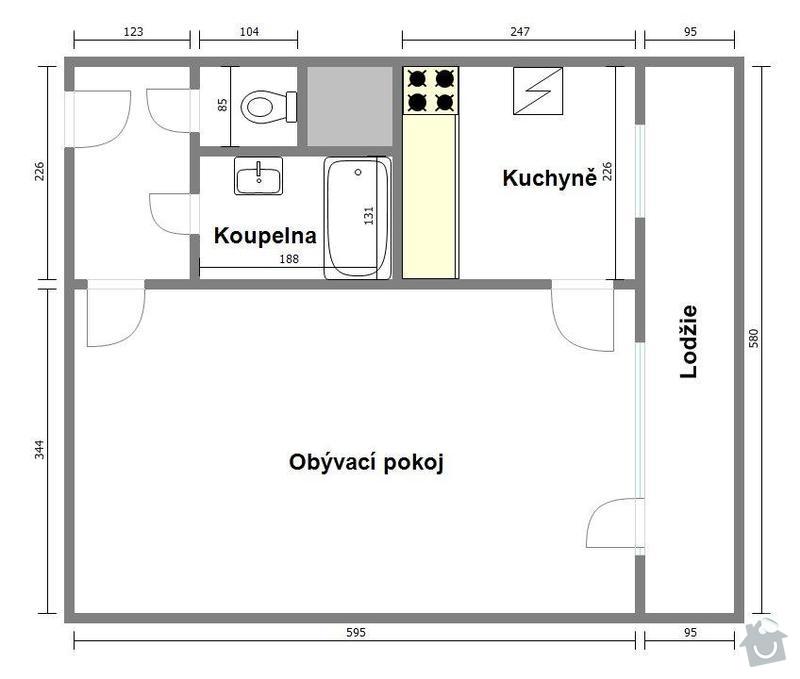 Rekonstrukce bytu 1+1 v Praze Záběhlicích: bramborikova