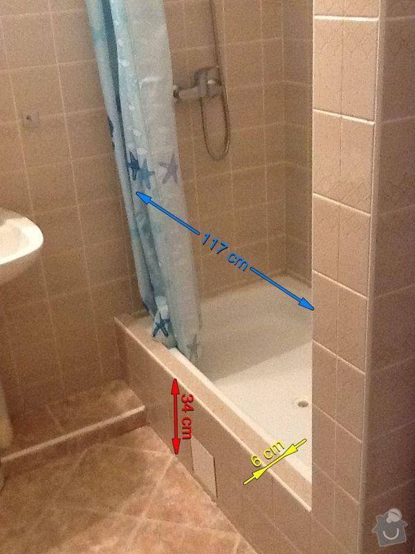 pricku s dvermi do sprchoveho koutu: Koupelna
