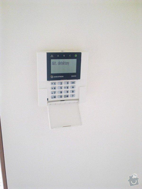 Zabezpečovací zařízení - RD novostavba: 06082012545