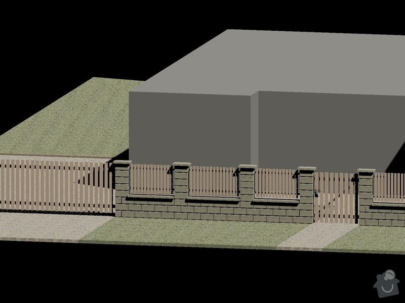 Venkovní pochozí plochy+stavba plotu: Sykora_plot_3D